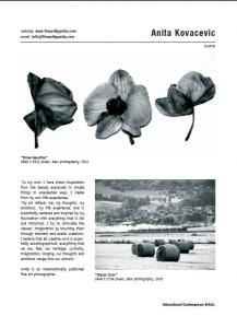 Photographer Anita Kovacevic Published In The Art Book International Contemporary Artists Vol.VI